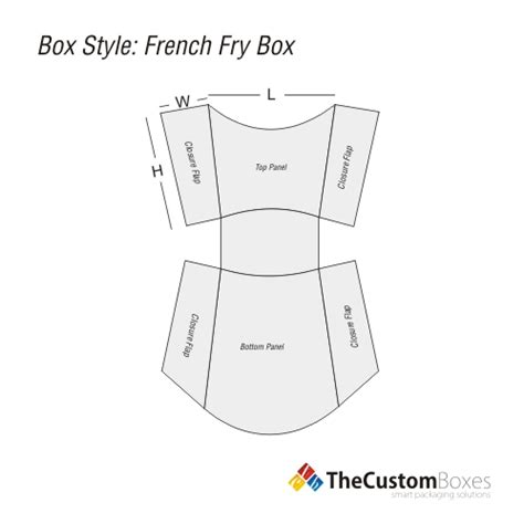 french fry boxes custom packaging design and printing