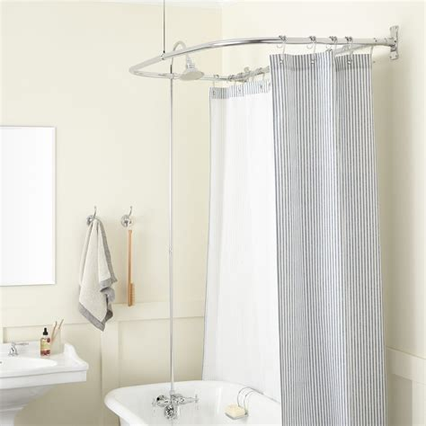 how many shower curtains for a clawfoot tub hookless shower curtain for clawfoot tub ideas curtains