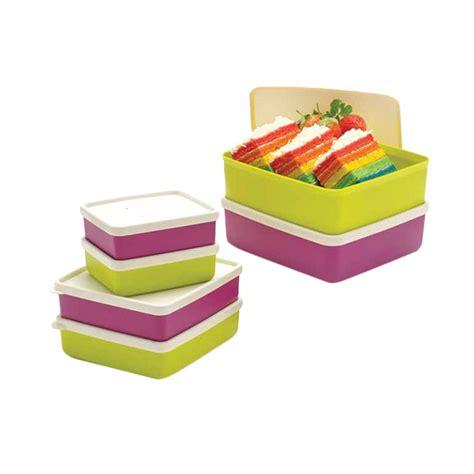 Stok Terbatas 2496 Kemeja Jumbo Square jual tupperware healthy buddy set tempat penyimpanan makanan 6 pcs harga kualitas