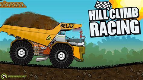 hill climb racing truck hill climb racing belaz create car dump truck