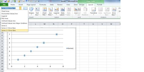 excel layout error bars charts excel generate and format horizontal error bars