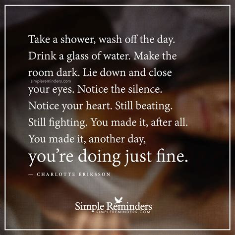 Shower A Day by You Are Doing Just By Eriksson