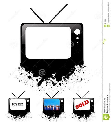 il disegno testo televisore di disegno per testo fotografia stock libera da