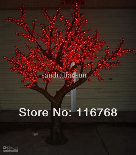 Outdoor Light Up Trees 2017 2 5m Led Lighted Trees With Artificial Blossoms Landscape Outdoor Lighting From