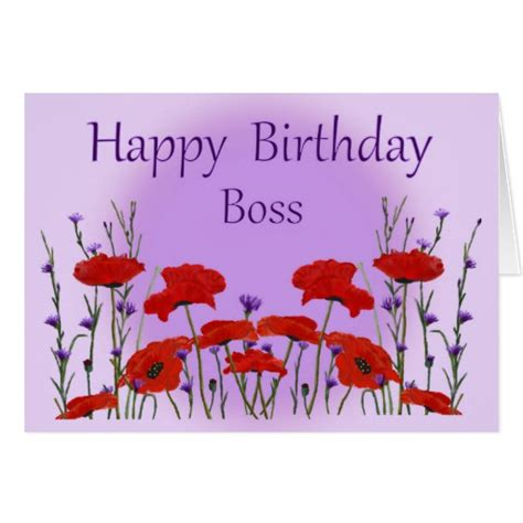 happy birthday boss design happy birthday boss from group with poppies greeting card