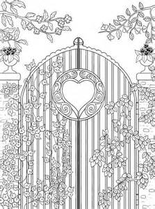 freebie garden gate coloring stamping