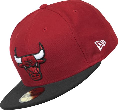 new era bulls new era nba basic chicago bulls cap rot schwarz