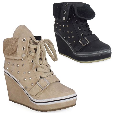 size 3 shoes for ankle boots womens lace up platform wedge