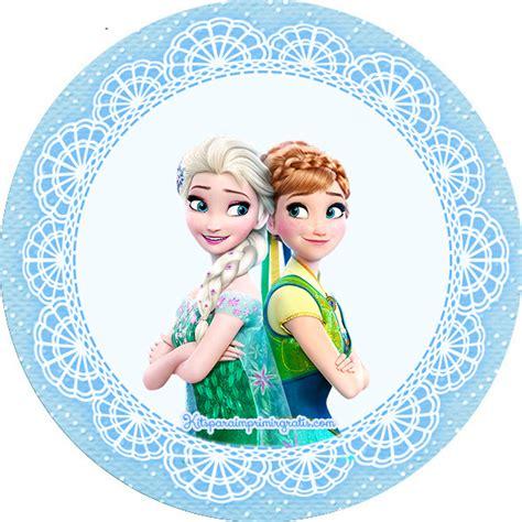 Etiquetas Circulares Y Toppers De Frozen Para Decorar   kit de frozen fever para imprimir y decorar tu sitio de