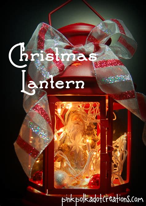 light up christmas lantern pink polka dot creations