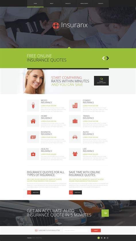 Insurance Responsive Website Template 52759 Insurance Responsive Website Template Free