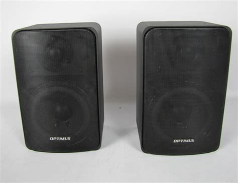 pair of optimus pro 77 bookshelf speakers ebay