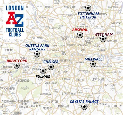 map uk football clubs football clubs a z maps