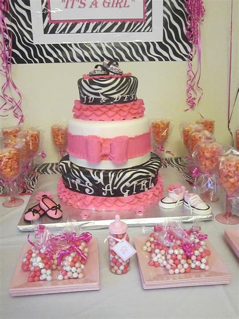 Zebra Pink Baby Shower by Pink Zebra Baby Shower Cakecentral