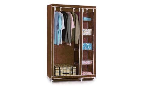 Brown Canvas Wardrobe by Canvas Wardrobe Groupon Goods