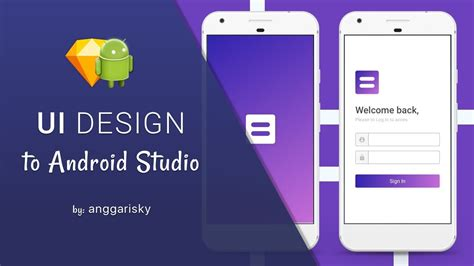 download tutorial android studio indonesia purple login ui design to android xml tutorial youtube
