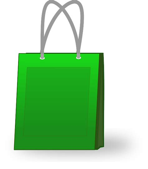 Sho Green free vector graphic bag green shopping sale paper