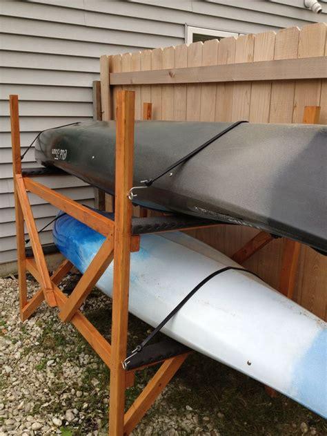 diy kayak rack kayaks canoes pinterest kayaks