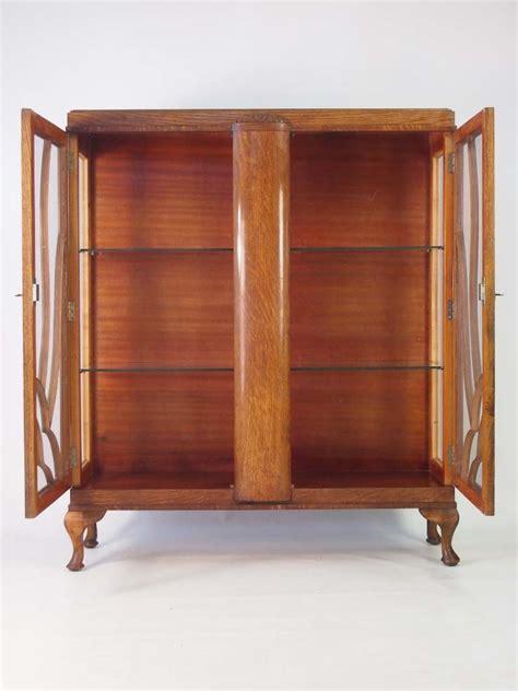 deco china cabinet vintage deco oak china cabinet bookcase