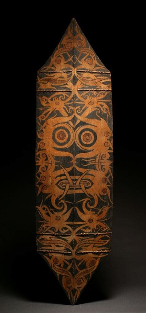 19th century tattoos the victorian dayak war shield borneo indonesia wood with