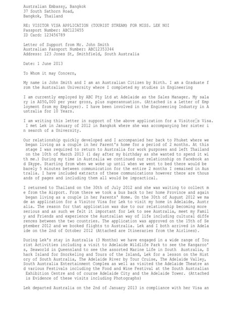Visa Withdrawal Letter Format Australia cover letter 1 txt sle cover letter for australia