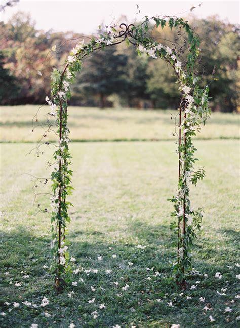 simple elegant wedding ceremony arch ideas  wed