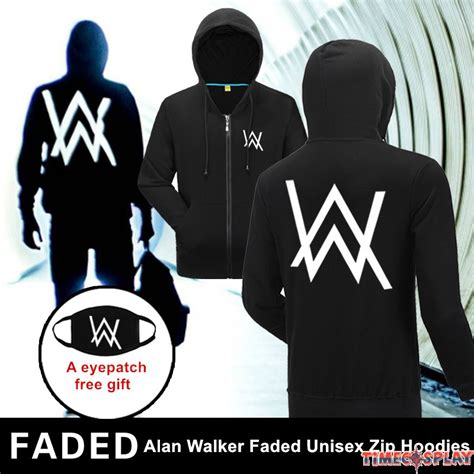 Hoodie Alan Walker Faded Smlxl rock alan walker logo unisex faded zip hoodies