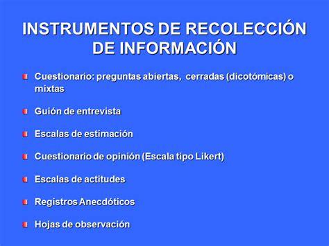 preguntas cerradas y abiertas para niños t 233 cnicas e instrumentos de recolecci 243 n de informaci 243 n