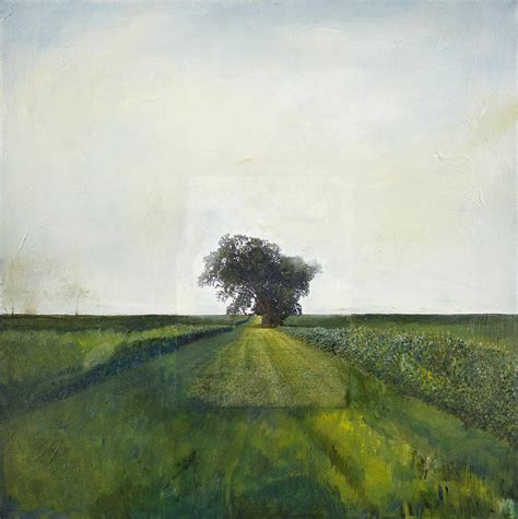 Landscape Painting Lone Tree Barbara J Hart Oil On Canvas Lone Landscaping