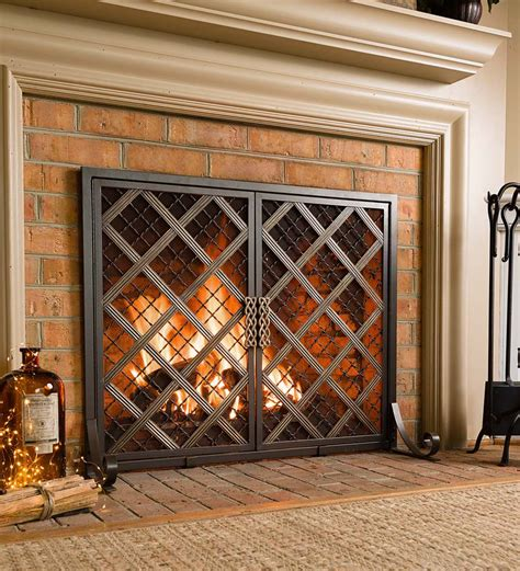 wide fireplace screen mccormick celtic fireplace screen large screens with