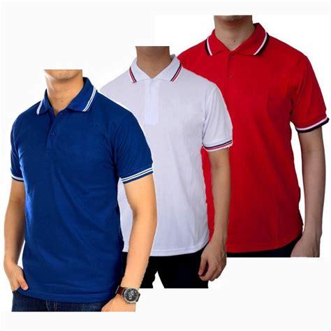 Kaos Kerah 2 polo kerah polos kaos kerah seragam polo shirt cowok
