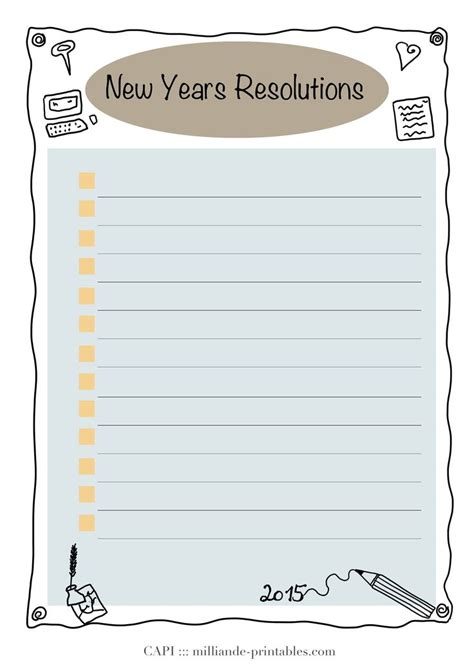 add a card template to magiccardeditor a simple tick list new year resolution card printable