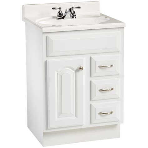 Lowes White Bathroom Vanity by Enlarged Image