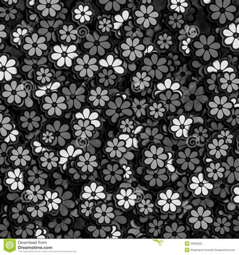 flower pattern in black and white black and white flower pattern stock illustration image