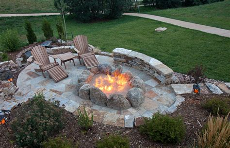 flagstone patio with firepit 42 backyard and patio pit ideas