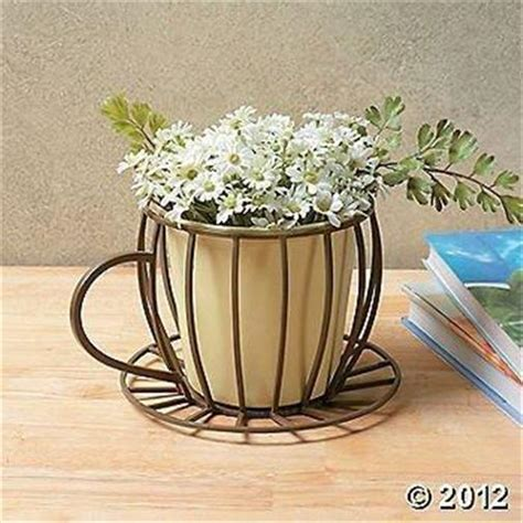 coffee cup planter flower pot plant container front yard