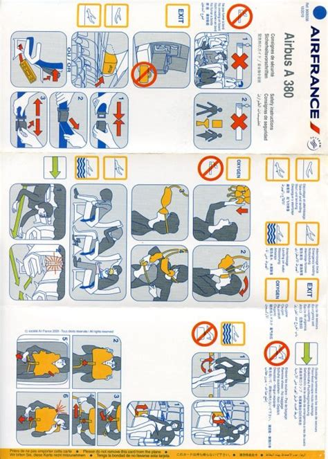 Collection Of Airline Safety Cards by All Safety Cards Collection Of Aircraft Safety Cards And