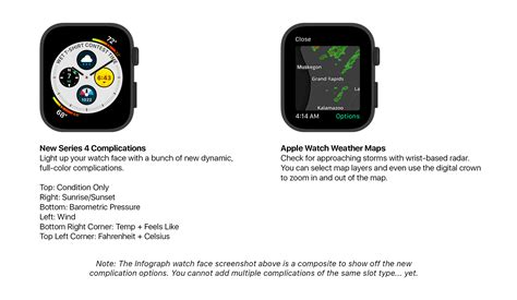 Apple Series 4 8 Complications by New Series 4 Complications Plus Weather Maps In Carrot Weather Applewatch