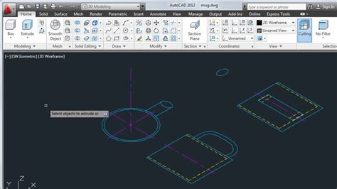 view printable area autocad convert 2d objects to 3d autocad 2012 youtube