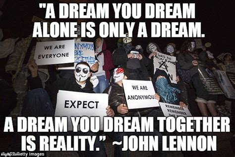 Together Alone Meme - image tagged in anonymous john lennon together we are