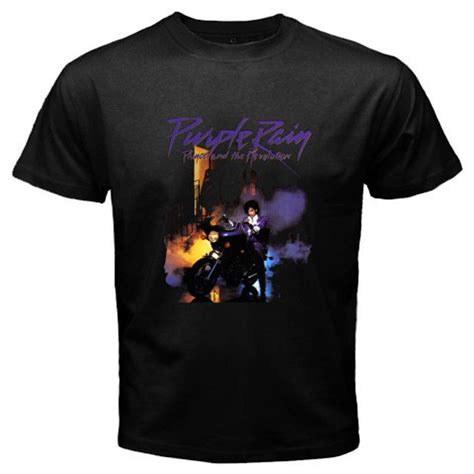 T Shirt Prince Of prince purple t shirt in black 80 s tour pop
