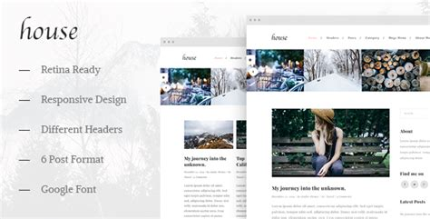 house personal creative blog template by studiothemes