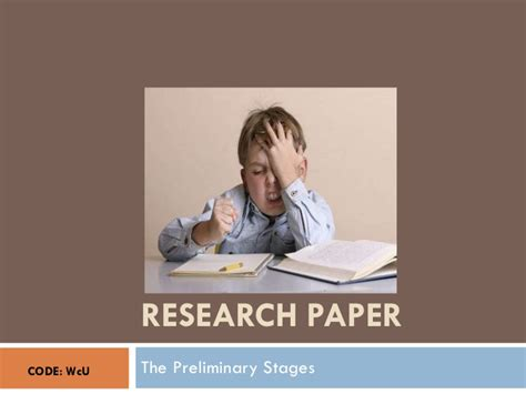 preliminary parts of a research paper research paper the preliminary stages