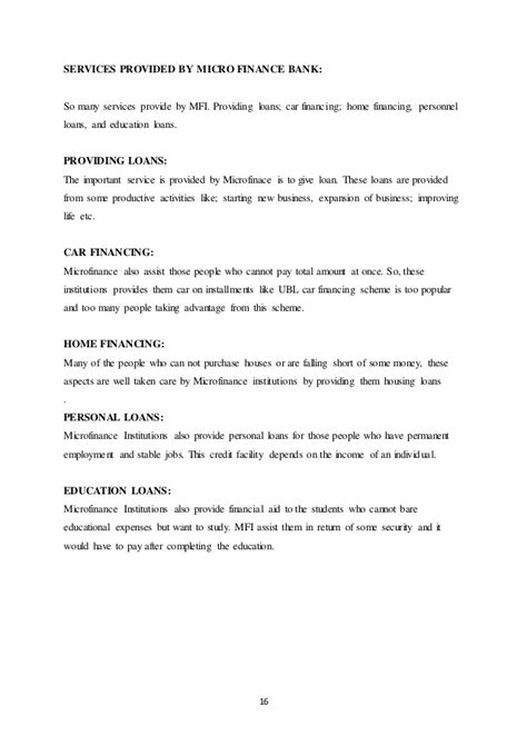 microfinance dissertation dissertation balanced scorecard micro finance