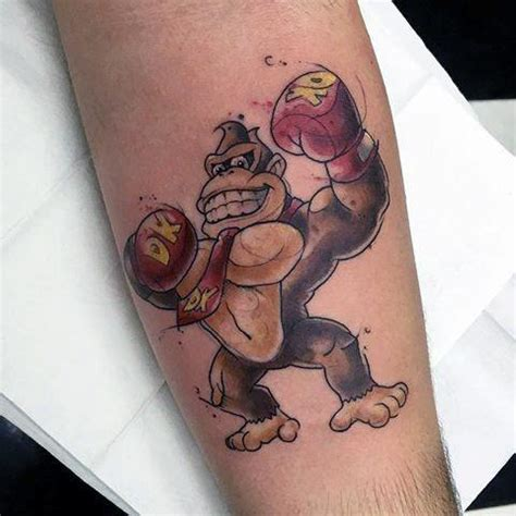donkey tattoo designs 40 kong designs for retro gamer ink ideas