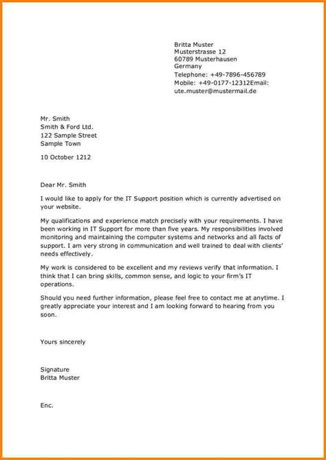 10 bewerbung englisch muster resignation format