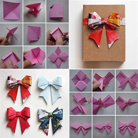 Origami Bow - these origami paper bows are so amazing