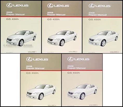 free auto repair manuals 2008 lexus gs on board diagnostic system 2008 lexus gs 450h repair shop manual original 6 volume set