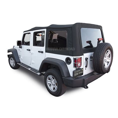 jeep convertible 4 door jeep wrangler 4 door offroad convertible top black