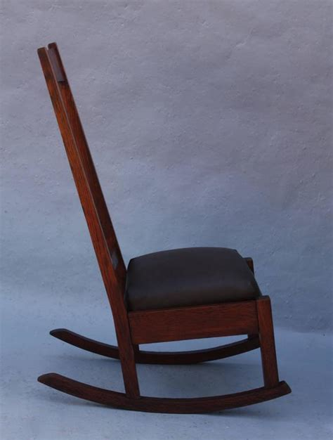 high back rocking chair 1910 arts and crafts high back rocking chair at 1stdibs